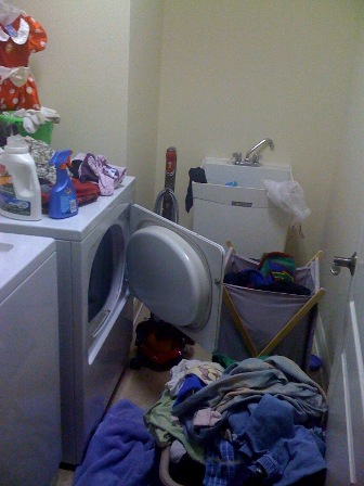 "Our ""dirtiest"" laundry room winner!"